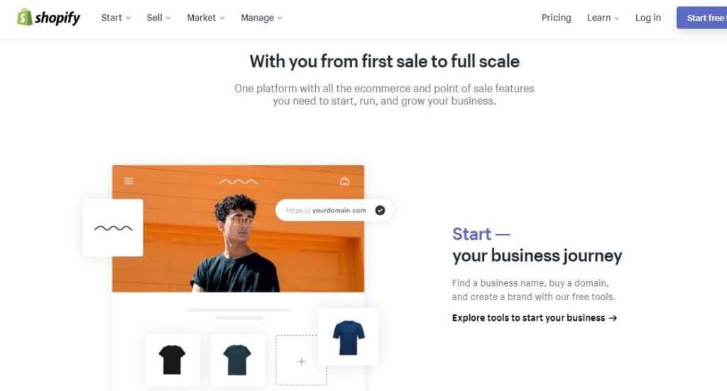 Shopify Online website